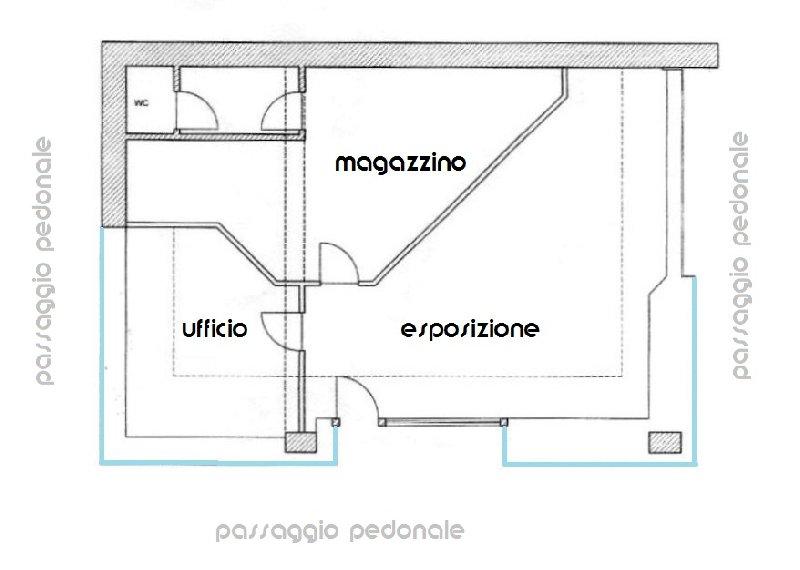 Negozio / Locale in vendita a Biella, 3 locali, zona Zona: Centro, prezzo € 96.000 | Cambio Casa.it