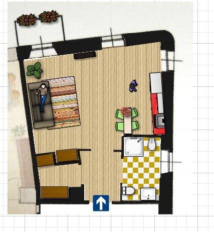 Appartamento in affitto a Biella, 1 locali, zona Zona: Centro, prezzo € 300 | Cambio Casa.it